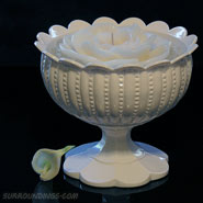 Plastic white chalice bowl