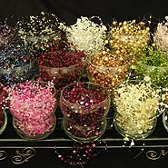 Bead garlands for centerpieces