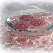 Rose candles & petals floating candle centerpiece