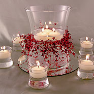 Hour bowl & votves floating candle centerpiece