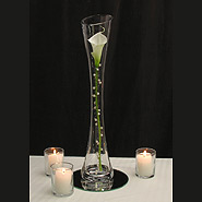 Pearled calla lily candle centerpiece