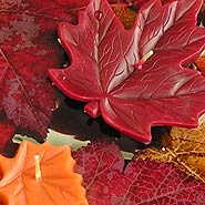 Maple leaf floating candle for Fall centerpieces
