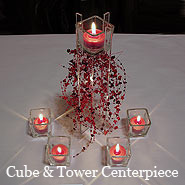 Cube & Tower Candle Centerpiece