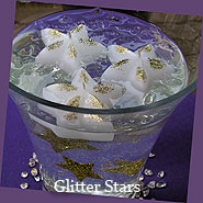 Glitter Star Floating Candles