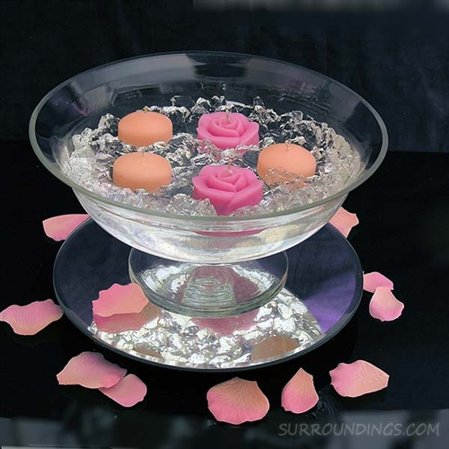 Glass bloom bowl