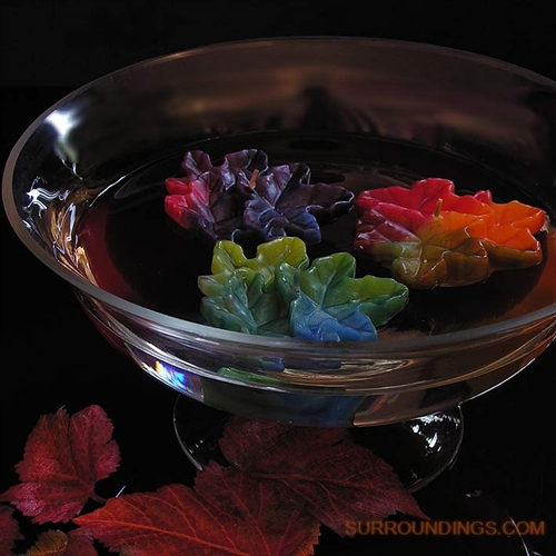 Fall Floating Candle Centerpieces: Fall Cluster Leaf Floating Candle