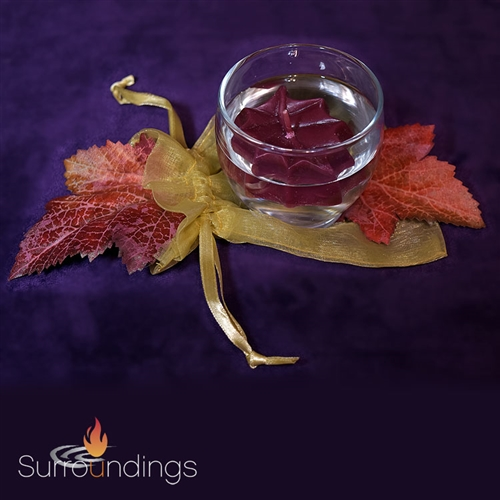 Fall floating candle centerpiece