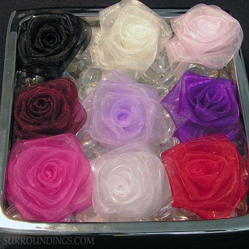 Silk sheer roses