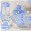 Floating rosebud candle