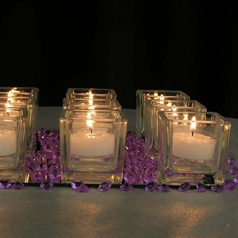 Cubes and diamonds candle centerpiece