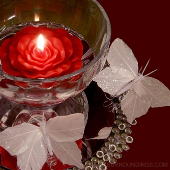 Butterfly and floating flower candle centerpiece kit
