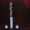 Crystal tea light pic in diamond drops centerpiece