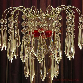 Crystal chandelier vase topper