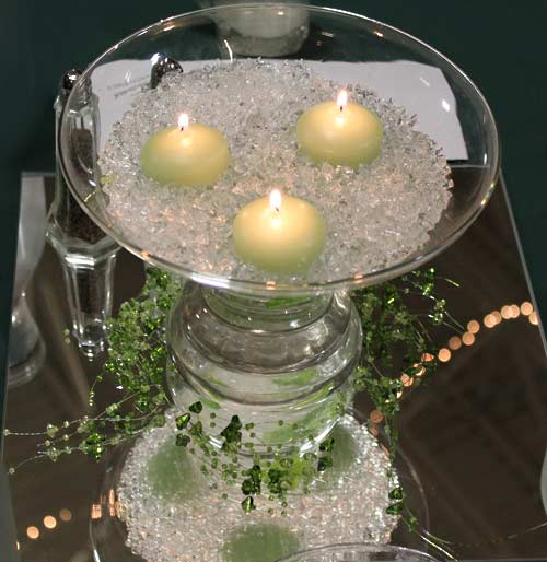 Candle centerpiece for Albany Chamber