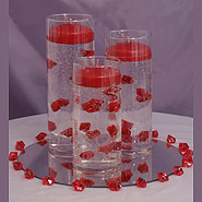 Cylinder set and acrylics candle centerpiece