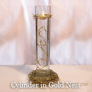Sweetheart Floating Candle Centerpiece Kit Gold Nest