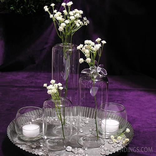 Dome glass bud vase
