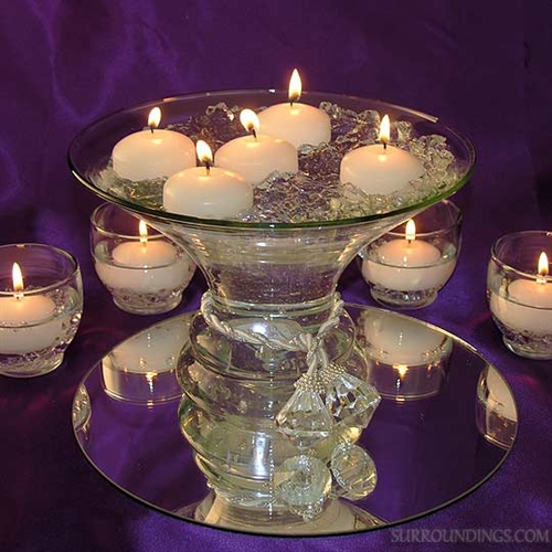 Flowers With Floating Candle Centerpieces: Flare Diamond Centerpiece Floating Candle Centerpiece Kit