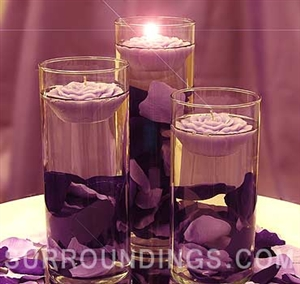 Large Cylinder And Floating Rose Candles Centerpiece Kit