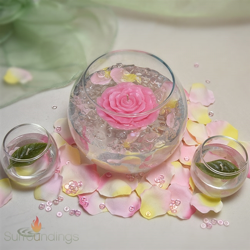 Bubbles Roses Floating Candle Centerpiece