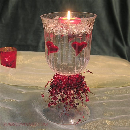 Heart of victoria candle centerpiece