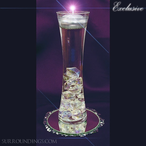Hour Vase Amp Acrylic Crystal Cpk Floating Candle Centerpiece